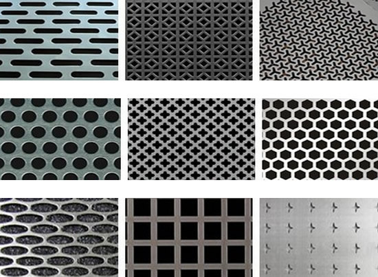 perforated sheet screen with decorative patterns